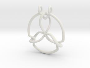 Pendant Trinity No.2 in White Natural Versatile Plastic