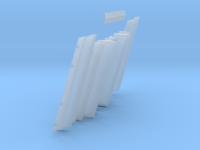 1/100 Scale 747 Trailing Edge Flaps in Smoothest Fine Detail Plastic