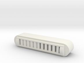 Duct Vent - 72:1 Scale in White Natural Versatile Plastic