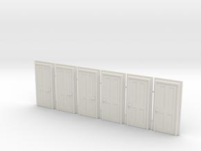 Door Type 5 - 810 X 2000 X 6 in White Natural Versatile Plastic: 1:87