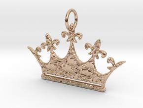 Queen NQ Byzentine Texture in 14k Rose Gold