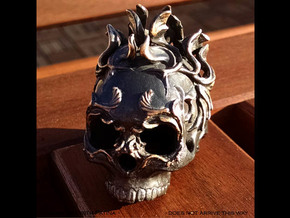 Skull01 Ornamental01 in Raw Bronze