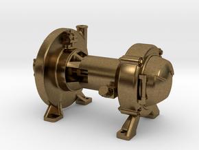 Steam Turbo Generator in Raw Bronze