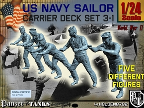 1-24 US Navy Carrier Deck Set 3-1 in White Natural Versatile Plastic