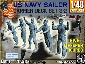 1-48 US Navy Carrier Deck Set 3-2 in Smooth Fine Detail Plastic