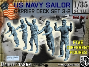 1-35 US Navy Carrier Deck Set 3-2 in Smooth Fine Detail Plastic