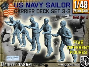 1-48 US Navy Carrier Deck Set 3-3 in Smooth Fine Detail Plastic