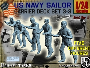 1-24 US Navy Carrier Deck Set 3-3 in White Strong & Flexible