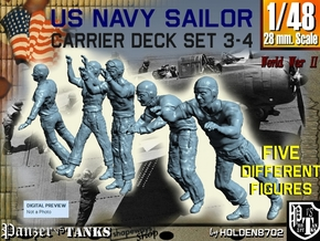 1-48 US Navy Carrier Deck Set 3-4 in Frosted Ultra Detail