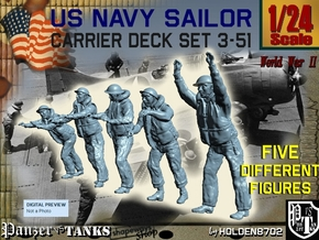 1-24 US Navy Carrier Deck Set 3-51 in White Natural Versatile Plastic