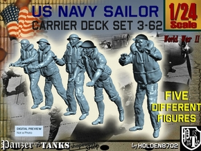 1-24 US Navy Carrier Deck Set 3-62 in White Natural Versatile Plastic