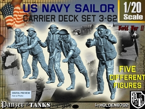 1-20 US Navy Carrier Deck Set 3-62 in White Natural Versatile Plastic