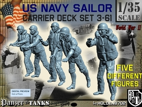 1-35 US Navy Carrier Deck Set 3-61 in Smooth Fine Detail Plastic