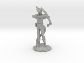 Tiefling Ranger with Bow in Aluminum