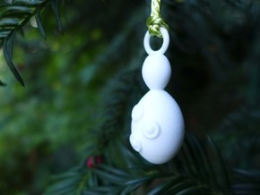 Saccharomyces Ornament - Science Gift in White Strong & Flexible Polished
