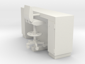 MOF Info Desk - 72:1 Scale in White Natural Versatile Plastic