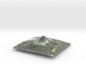 Mount Fuji Map in Glossy Full Color Sandstone