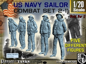 1-20 US Navy Sailors Combat SET 2-11 in White Natural Versatile Plastic