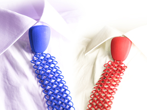 Debate-Tie  size S in Blue Strong & Flexible Polished: Small
