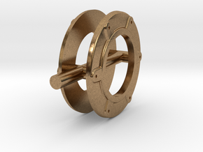 Evangeline_ring in Natural Brass