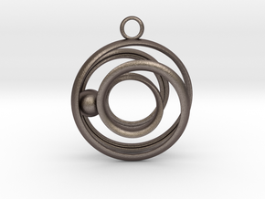 Mobius Strip - Rail and sphere in Stainless Steel