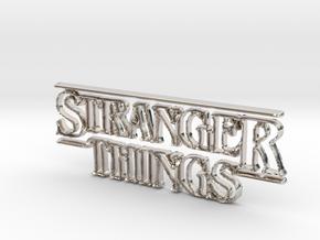 Stranger Things Logo in Platinum