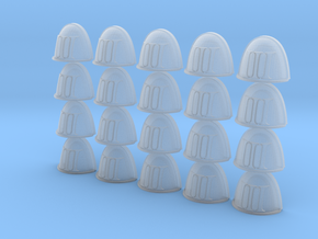 Roman Number III - 20 28mm Custom Shoulder Pad  in Smooth Fine Detail Plastic