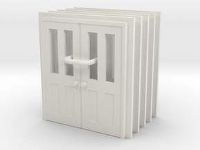Door Type 7 - 810D X 2000 X 5 in White Natural Versatile Plastic: 1:87