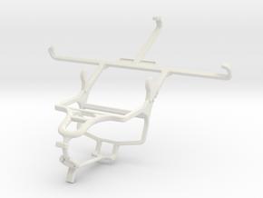 Controller mount for PS4 & Meizu m3e in White Natural Versatile Plastic