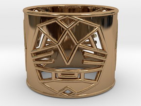3 Fearless Warriors ring size 6 (M) in Polished Brass