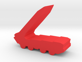 Game Piece, Red Force Missile Launcher in Red Strong & Flexible Polished