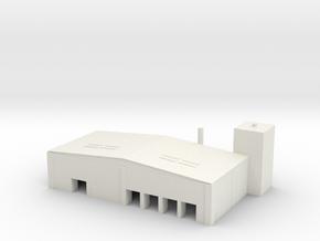 1/700 Scale Cargo Handling Building in White Natural Versatile Plastic