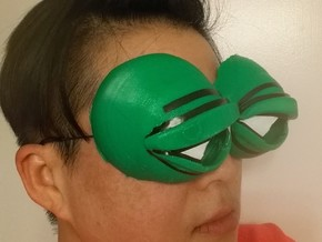 Pepe the Frog Holloween Costume Eyeglasses Tie-on in Green Strong & Flexible Polished