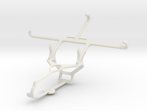 Controller mount for Steam & Oppo R7s - Front in White Natural Versatile Plastic