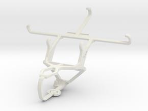 Controller mount for PS3 & Panasonic Eluga A2 in White Natural Versatile Plastic