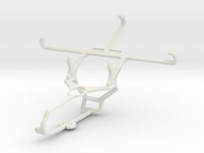 Controller mount for Steam & Panasonic Eluga A2 -  in White Natural Versatile Plastic