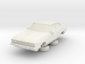 1-87 Ford Capri Mk3 280 Brooklyn in White Natural Versatile Plastic