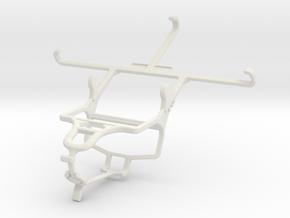 Controller mount for PS4 & Panasonic Eluga Icon in White Natural Versatile Plastic