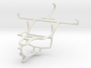 Controller mount for PS4 & Panasonic Eluga S mini in White Natural Versatile Plastic