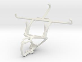 Controller mount for PS3 & Panasonic Eluga U2 in White Natural Versatile Plastic