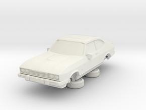 1-76 Ford Capri Mk3 Standard in White Natural Versatile Plastic