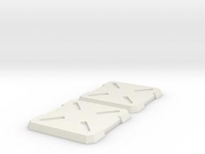 Cannon Master Leader Shoulder Pads in White Natural Versatile Plastic