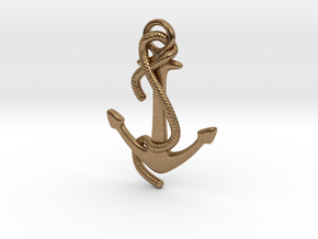 Anchor Earring in Raw Brass: Medium