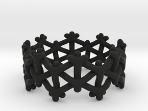 Y-woven Ring in Black Natural Versatile Plastic: 5 / 49