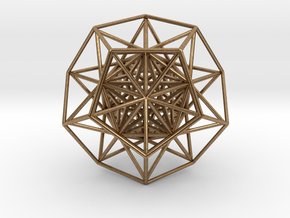 """Super Dodecahedron 2.5"""" in Natural Brass"""