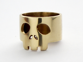 SkullRing US Size 4¼ in Polished Brass: 4.25 / 47.125