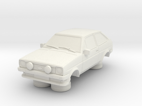 1-76 Ford Fiesta Mk1 Xr2 in White Natural Versatile Plastic