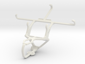 Controller mount for PS3 & Wiko U Feel Lite in White Natural Versatile Plastic