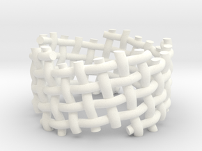 Woven Twisted Ring in White Processed Versatile Plastic: 5 / 49