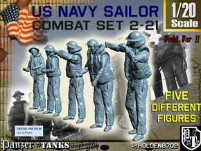 1-20 US Navy Sailors Combat SET 2-21 in White Natural Versatile Plastic